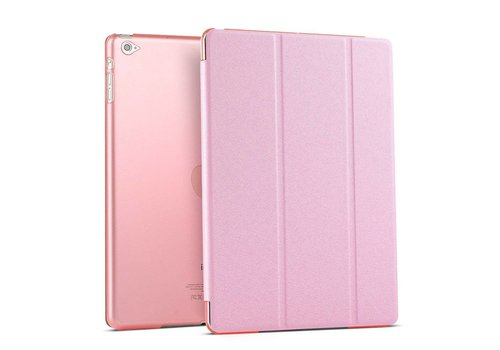 Apple iPad Air 2 (iPad 6) - Zachte Zijden Design Tablet Cover - Roze