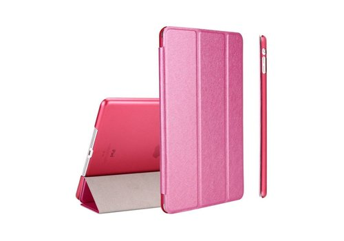 Apple iPad Air 2 (iPad 6) - Zachte Zijden Design Tablet Cover - Hot Pink