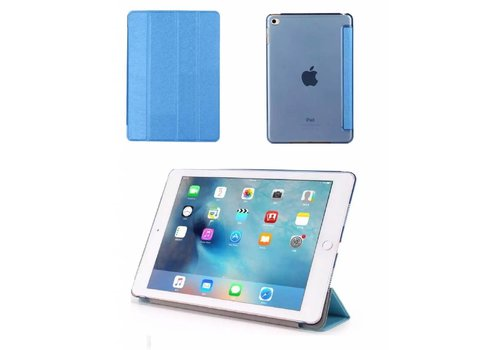 Apple iPad Mini 4 -  Zachte Zijden Design Tablet Cover - Blauw