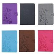 GSMWise Blauw Creatieve Tablet Hoes met Bloemen Design iPad 2 / 3 / 4