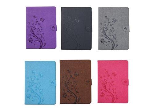 Roze Creatieve Tablet Hoes met Bloemen Design iPad Pro 9.7 Inch