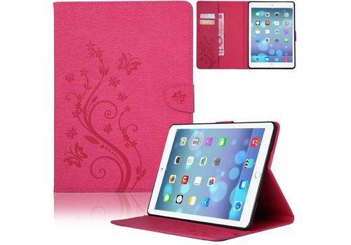 Roze Creatieve Tablet Hoes met Bloemen Design iPad mini 1 / 2 / 3