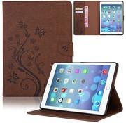 GSMWise Bruin Creatieve Tablet Hoes met Bloemen Design iPad mini 1 / 2 / 3