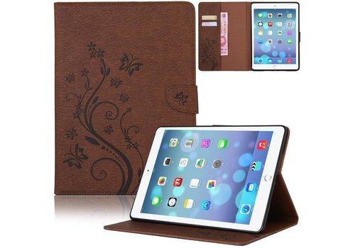 Bruin Creatieve Tablet Hoes met Bloemen Design iPad mini 1 / 2 / 3