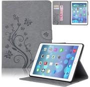 GSMWise Grijs Creatieve Tablet Hoes met Bloemen Design iPad mini 1 / 2 / 3