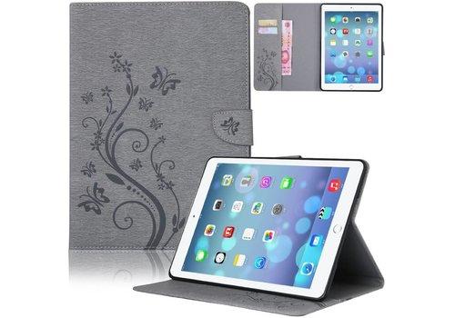 Grijs Creatieve Tablet Hoes met Bloemen Design iPad mini 1 / 2 / 3