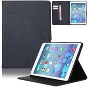 GSMWise Zwart Creatieve Tablet Hoes met Bloemen Design iPad mini 1 / 2 / 3