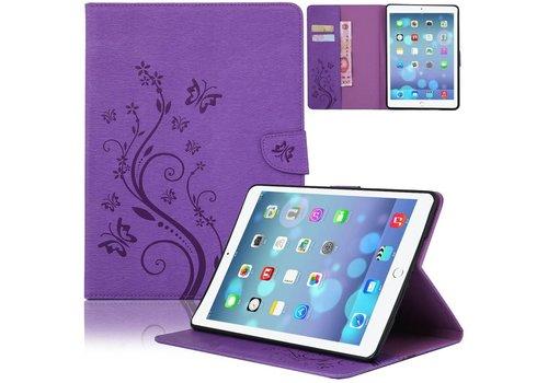 Paars Creatieve Tablet Hoes met Bloemen Design iPad mini 4