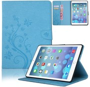 GSMWise Blauw Creatieve Tablet Hoes met Bloemen Design iPad mini 4