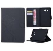 GSMWise Zwart Creatieve Tablet Hoes met Bloemen Design Galaxy Tab A 7.0 (2016)