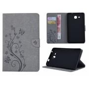 GSMWise Grijs Creatieve Tablet Hoes met Bloemen Design Galaxy Tab A 7.0 (2016)