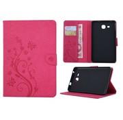 GSMWise Roze Creatieve Tablet Hoes met Bloemen Design Galaxy Tab A 7.0 (2016)