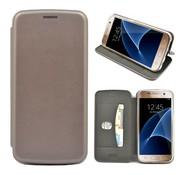 GSMWise GSMWise - Samsung Galaxy S7 Hoesje - Volledig Beschermende Slim PU Lederen Portumune Case - Zilver