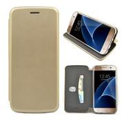 GSMWise GSMWise - Samsung Galaxy S7 Hoesje - Volledig Beschermende Slim PU Lederen Portumune Case - Goud