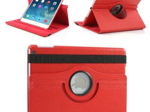 GSMWise Apple iPad Mini 1 / 2 / 3 - 360 graden draaibare Hoes - Kleur Rood