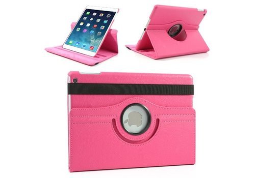 Apple iPad Air 1 (iPad 5) - 360 graden draaibare Hoes - Kleur Hot Pink