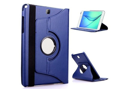 Samsung Galaxy Tab S2 9.7 T810 / T815 Swivel Case 360 graden Draaibare Beschermhoes Tablethoes Cover Hoes met Multi-stand - Kleur Donkerblauw
