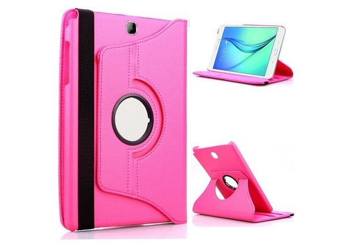 Samsung Galaxy Tab S2 8.0 T715 / T710 Swivel Case 360 graden Draaibare Beschermhoes Tablethoes Cover Hoes met Multi-stand - Kleur Hot Pink / Magenta
