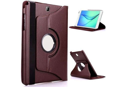 Samsung Galaxy Tab S2 8.0 T715 / T710 Swivel Case 360 graden Draaibare Beschermhoes Tablethoes Cover Hoes met Multi-stand - Kleur Bruin