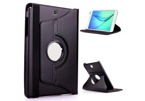 Samsung Galaxy Tab S2 8.0 T715 / T710 Swivel Case 360 graden Draaibare Beschermhoes Tablethoes Cover Hoes met Multi-stand - Kleur Zwart