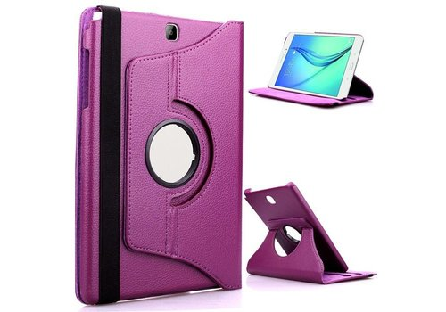 Samsung Galaxy Tab A 9.7 T550 Swivel Case 360 graden Draaibare Beschermhoes Tablethoes Cover Hoes met Multi-stand - Kleur Paars