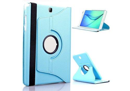 Samsung Galaxy Tab A 9.7 T550 Swivel Case 360 graden Draaibare Beschermhoes Tablethoes Cover Hoes met Multi-stand - Kleur Hemelsblauw / Aqua
