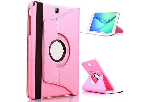 Samsung Galaxy Tab A 9.7 T550 Swivel Case 360 graden Draaibare Beschermhoes Tablethoes Cover Hoes met Multi-stand - Kleur Roze