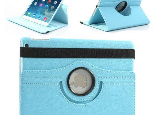 GSMWise Apple iPad Mini 4 - 360 graden draaibare Hoes - Kleur Aqua Blauw