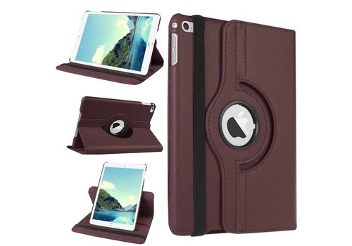 Apple iPad Mini 4 - 360 graden draaibare Hoes - Kleur Bruin