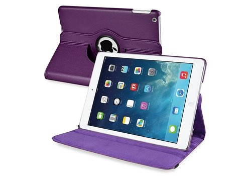 Apple iPad Mini / 2 / 3 Swivel Case 360 graden Draaibare Beschermhoes Tablethoes Cover Hoes met Multi-stand - Kleur Paars