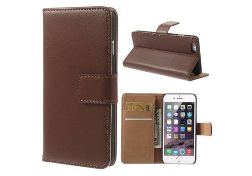 Bruin PU lederen Portemonnee hoesje iPhone 6/6S Plus
