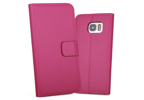 Hot Pink PU lederen Portemonnee hoesje Galaxy S7 Edge