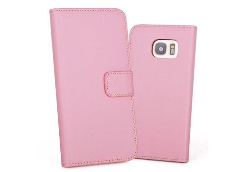 Roze PU lederen Portemonnee hoesje Galaxy S7 Edge