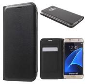 GSMWise Samsung Galaxy S7 Hoesje Cover Book Case Lychee met kaarthouder - Zwart