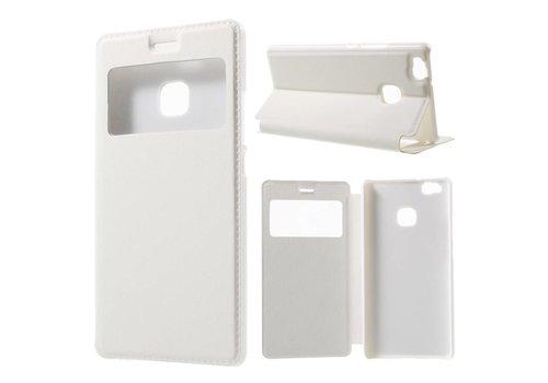 Huawei P9 Lite / G9 Lite View Window Leather Flip Case - Wit