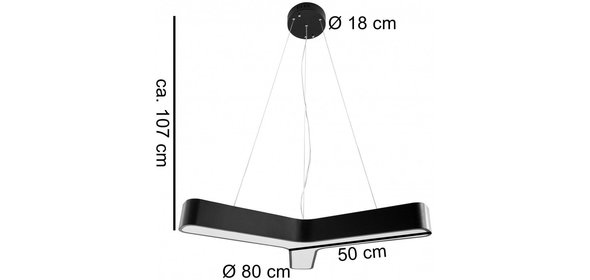 Sky Style Line Led Hanglamp Zwart