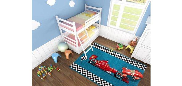 Kayoom Amigo Auto Kindervloerkleed 160x230 Blauw