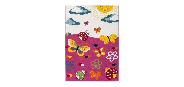 Lalee Amigo Vlinder Kindervloerkleed 160x230 Roze