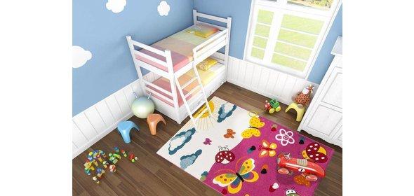 Lalee Amigo Vlinder Kindervloerkleed 120x170 Roze
