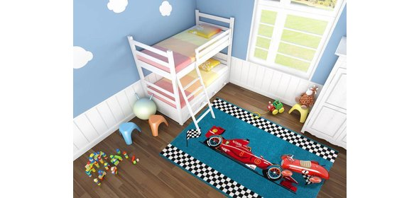 Kayoom Amigo Auto Kindervloerkleed 120x170 Blauw