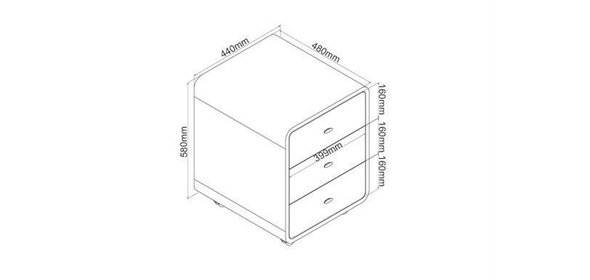 Jual Furnishings Drawer PC-201 Ladeblok Walnoot