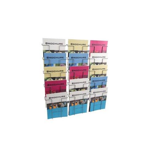 Folderrek Wand 15 vaks A4 210x297mm BxH