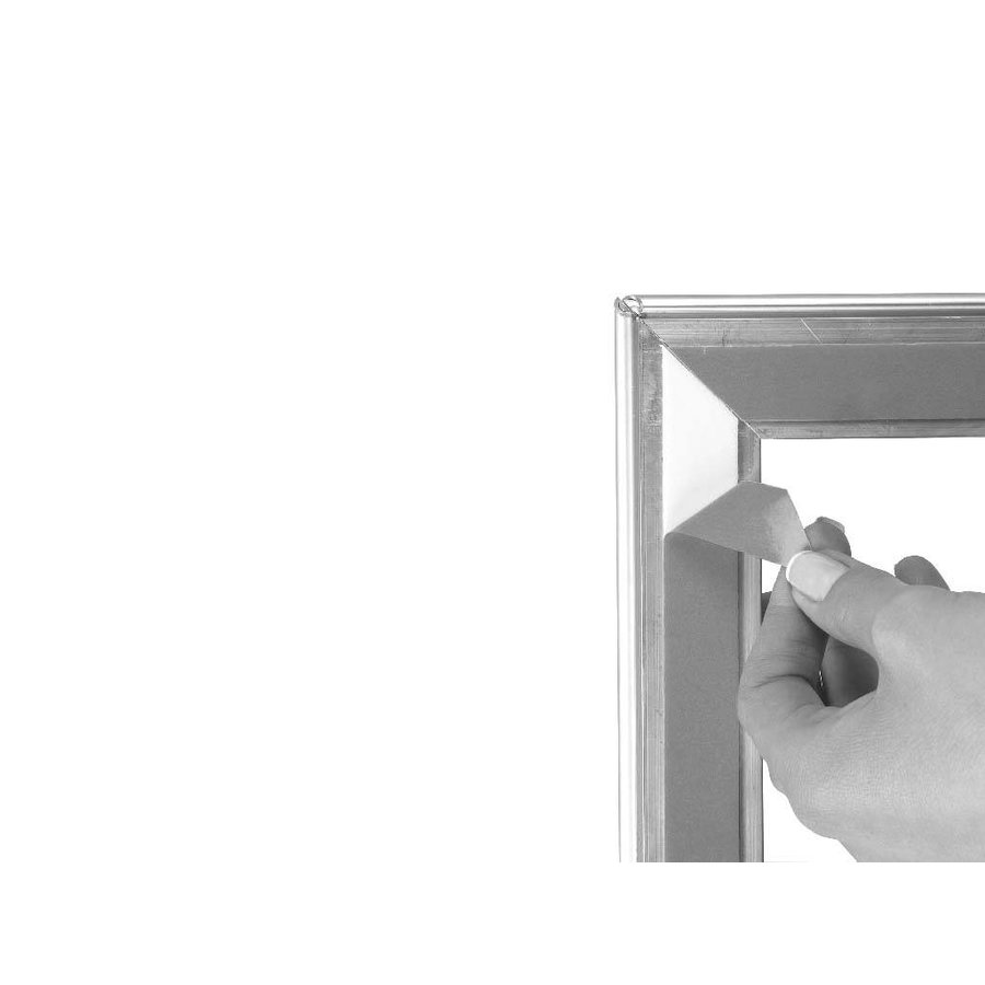 Kliklijst voor raam/etalage
