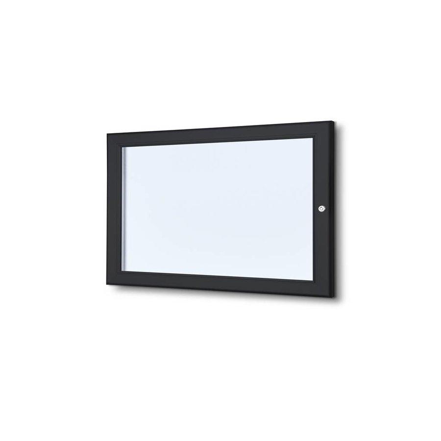 Menuvitrine zwart onverlicht binnen/buiten 2xA4P