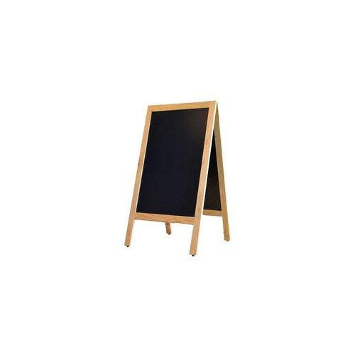 Krijtstoepbord Blankhout 75x135cm