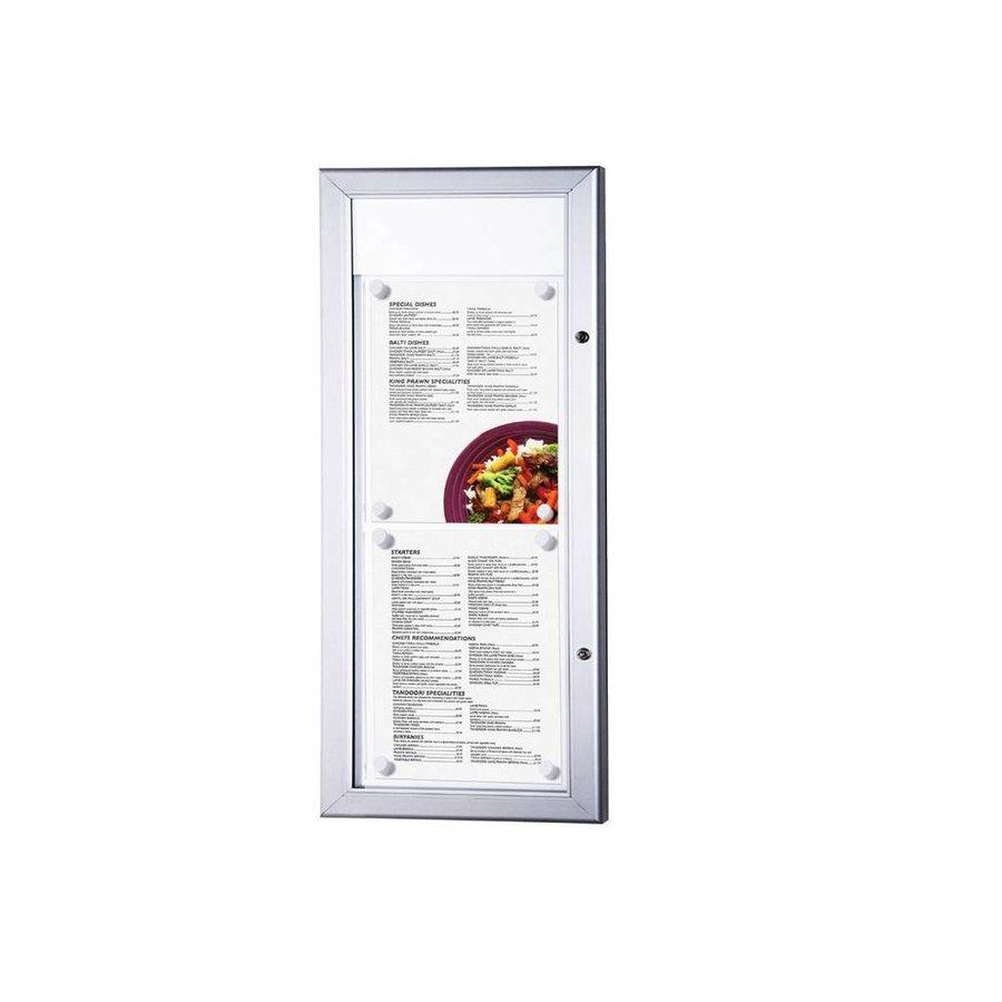 Menuvitrine 2xA4T LED verlicht binnen/buiten