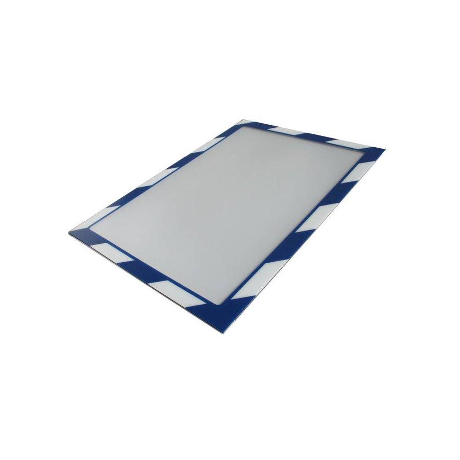 Aftekenlijst houder blauw met wit