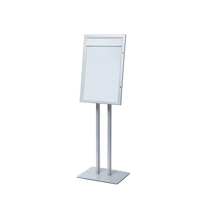 Menubord Indoor aluminium 4xA4 onverlicht