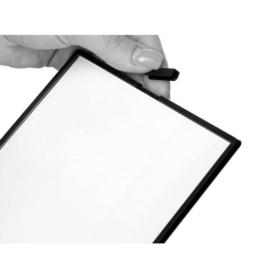 Menustandaard A5 zwart L-standaard portret SCRITTO