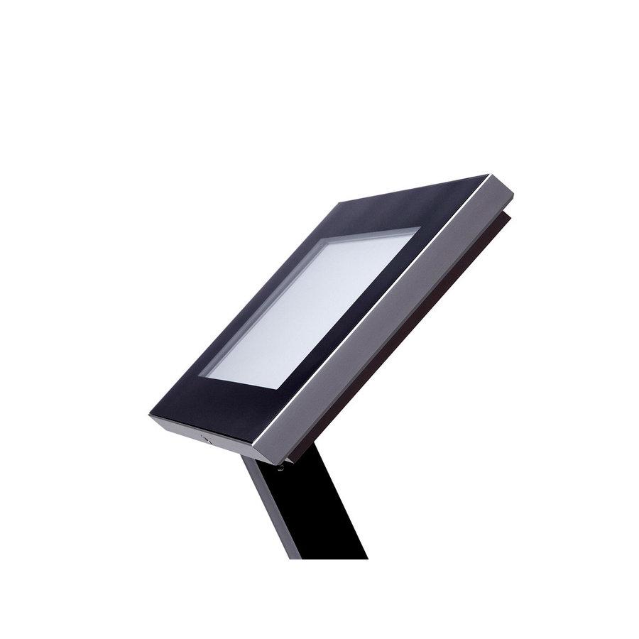 Menukast met LED zwart A2 Premium Outdoor (594x420mm) BxH